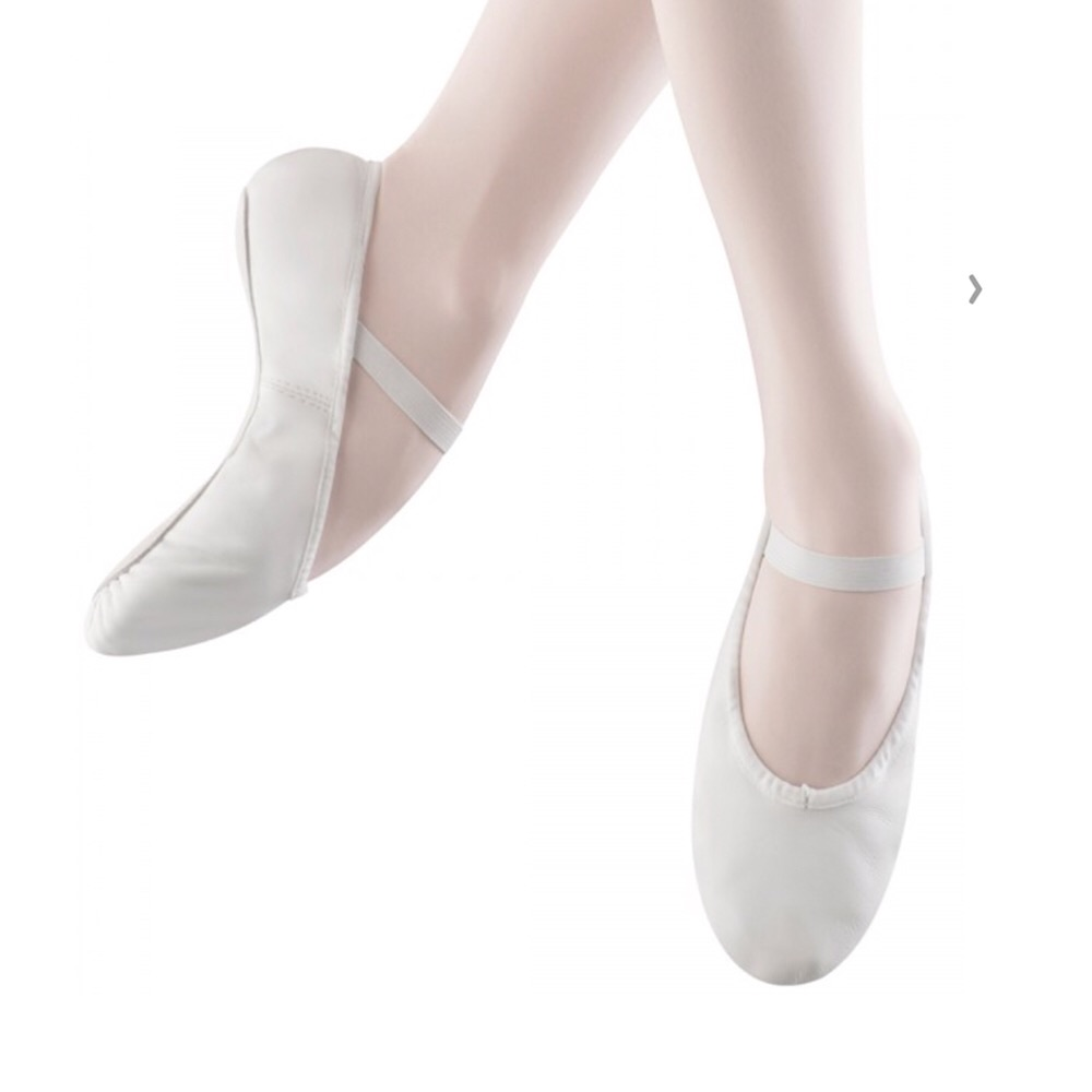 White Leather Ballet Shoes Various Sizes